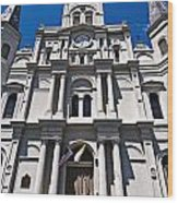 Looking Up St Louis Cathedral Wood Print