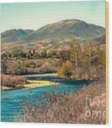 Looking Up The Payette River Wood Print