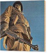 Looking Up To A Hero In Pueblo Colorado Wood Print