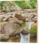 Looking Upstream The Colorado St Vrain River Wood Print