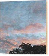 Looks Like And Oil Painted Sky Wood Print