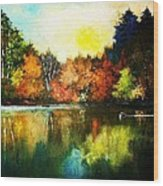 Autumn In Loon Country Ll Wood Print