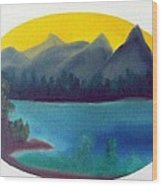 Loon Lake Wood Print