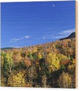 Loon Mountain Foliage Wood Print