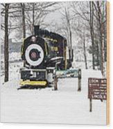 Loon Mountain Train Wood Print