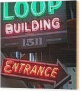 Loop Building 1511 Wood Print