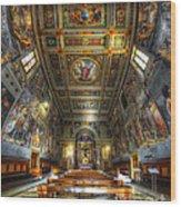 L'oratorio Del Santissimo Crosifisso Wood Print