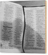 Lord Is My Shepherd Wood Print