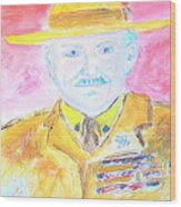 Lord Robert Baden Powell And Scouting 2 Wood Print