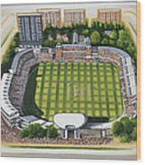 Lords Cricket Ground Wood Print