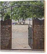 Lord's Prayer Hail Mary Gates 5184 Wood Print