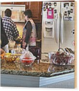 Lorna Kitchen Busy2 2009 Wood Print