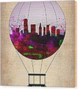 Miami Air Balloon 1 Wood Print