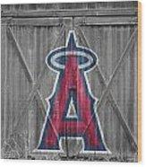 Los Angeles Angels Wood Print by Joe Hamilton