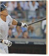 Los Angeles Angels of Anaheim v New York Yankees Wood Print