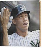 Los Angeles Angels vs New York Yankees Wood Print