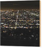 Los Angeles At Night Wood Print