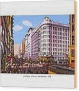 Los Angeles California - Seventh Street - 1938 Wood Print