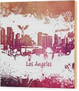 Los Angeles California Skyline Wood Print