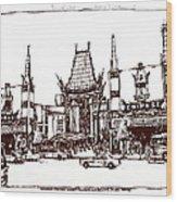 Hollywood's Chinese Theater Landmark.          Wood Print