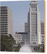 Los Angeles City Hall Wood Print