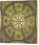 Los Angeles City Hall Rotunda Ceiling Wood Print