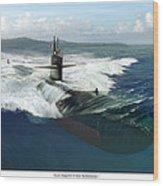 Los Angeles Class Submarine Wood Print