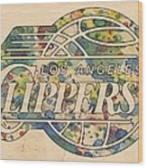 Los Angeles Clippers Poster Art Wood Print