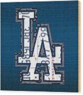 Los Angeles Dodgers Baseball Vintage Logo License Plate Art Wood Print