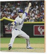 Los Angeles Dodgers V Arizona Wood Print