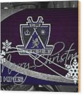 Los Angeles Kings Christmas Wood Print