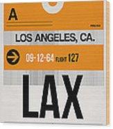 Los Angeles Luggage Poster 2 Wood Print
