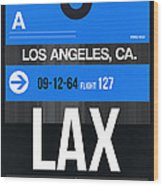 Los Angeles Luggage Poster 3 Wood Print