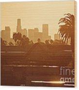 Los Angeles Morning Wood Print