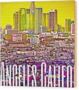 Los Angeles Postcard Wood Print