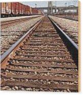 Los Angeles Railroad Tracks Wood Print