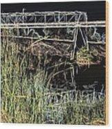 Los Angeles River / Crayola Effect Wood Print