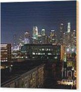 Los Angeles Skyline At Dusk Wood Print