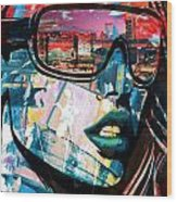 Los Angeles Skyline Wood Print