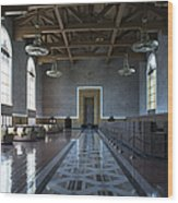 Los Angeles Union Station Original Ticket Lobby Wood Print