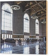 Los Angeles Union Station Original Ticket Lobby Vertical Wood Print