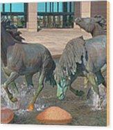 Los Colinas Mustangs 14675 Wood Print