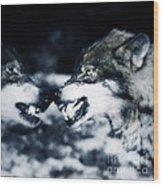 Los Lobos Wood Print