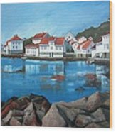 Loshavn Wood Print by Janet King