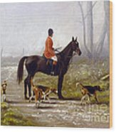 Losing The Scent Wood Print by John Silver