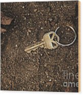 Lost And Found Key Wood Print