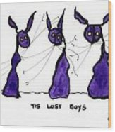 Lost Boys Wood Print