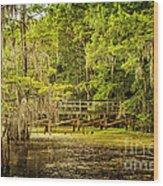 Lost Bridge On Caddo Lake Wood Print
