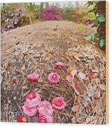 Lost Flowers Wood Print