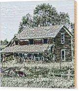 Lost In Wyoming Wood Print